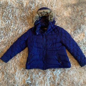 Kenneth Cole Purple Down Coat